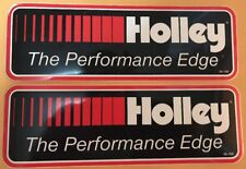 """2 pcs HOLLEY  The Performance Edge NASCAR NHRA 9.25"""" X 3"""" racing decals/stickers"""