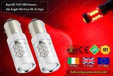 2x 80W Cree LED BAY15D 1157 380 P21/5W Red Rear Xenon Bulbs Tail Brake Light 12v
