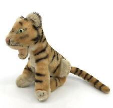 Steiff Bengal Tiger sitting Open Mouth Mohair Plush 14cm 5in 1959 -61 Scarce Vtg