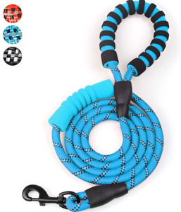 Rope Dog Lead 6 FT Long with Double Soft Padded Handle Dog Leash Highly Safety