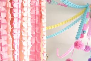 Four-leaf Tassels Paper Garland Buntings Banner Hanging Wedding Party Decor UK