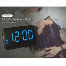 LED Digital Alarm Clock Voice Control Snooze Backlight Desktop Table Clock