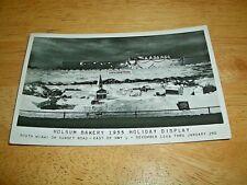 VINTAGE HOLSUM BAKERY 1955 HOLIDAY DISPLAY, SOUTH MIAMI, FL *POSTCARD*-RPPC-1955