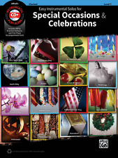 EASY INSTRUMENTAL SOLOS FOR SPECIAL OCCASIONS & CELEBRATIONS-CLARINET BOOK/CD!!