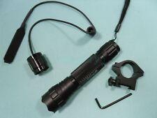 Hunting Kit Flashlight CREE XM-L T6 1-mode Torch for 20mm Rail 501B_DK