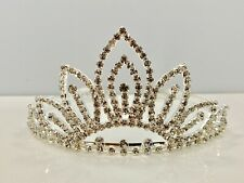 Crystal 6410 Tiara Crown - Silver Tone