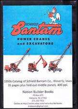 1950s Schield Bantam Power Cranes and Excavators brochure on Cd