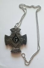 Square and Compass Necklace with hidden knife Masonic Mason 1666