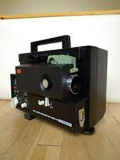 Elmo St-600 2-Track Super 8 / 8mm Sound Movie Projector w/ Accessories Exc Cond