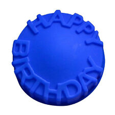 Happy Birthday Silicone Letters Cake Round Mold Pan Pizza Baking Bakeware Tray