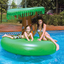Rainforest Habitat Pool Float | Inflatable Island w Tree Fountain Top