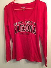 JANSPORT Sz S Univ Of Arizona Red LS Tshirt VNeck College University Top