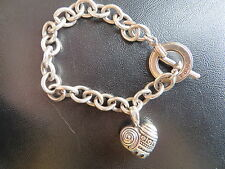 LAGOS - Caviar Sterling Silver Heart of Philadelphia Cable Chain Toggle Bracelet