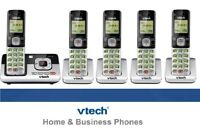 New VTECH DECT 6.0 CORDLESS HOME PHONE & ANSWERING MACHINE SET SYSTEM lot
