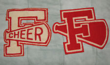 """VINTAGE 1950s """"F"""" CHEER SCHOOL OR COLLEGE SEW ON LETTERS"""
