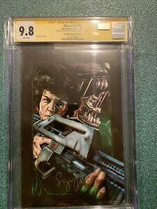 Sigourney Weaver Autographed Aliens #4 Celebrity Authentics Variant CGC SS 9.8