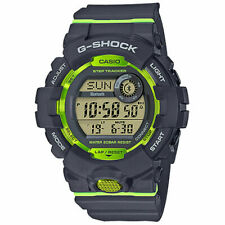 Casio GBD800-8 G-Shock Black Lime Green Digital Dial Resin Band Watch New