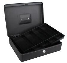 12 pollici 300MM GRANDE Cash Money Box con 2 CHIAVI Nero Petty sicuro vassoio rimovibile