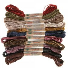 VALDANI FLOSS- VINTAGE HUES COLLECTION, 6 Strand Floss, 12 Colors NEW