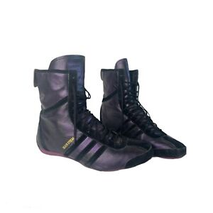 Adidas Silver Streak Suede Size US 9.5 Ankle Boot Wrestling Style Shoes Purple