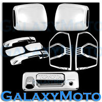 14-16 Toyota TUNDRA Chrome Towing Mirror+4 Door Handle+Tailgate+Taillight Cover