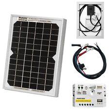 5W solar panel kit / trickle charger for 12V battery car, van, motorbike, boat