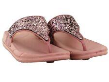 GIRLS WEDGE GLITTER SUMMER BEACH TOE POST FLIP FLOP KIDS SLIPPER UK SIZES 10-2
