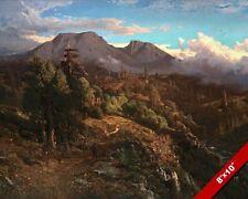 SUNSET AT MOUNT TAMALPAIS BAY AREA CALIFORNIA PAINTING ART REAL CANVAS PRINT