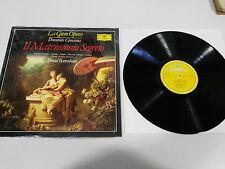 "CIMAROSA IL MATRIMONIO SEGRETO LP VINYL 12"" 1990 VG+/VG+ DEUTSCHE GRAMMOPHON"