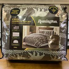New Remington Bear Moose 8 Piece Full Comforter & Bed Sheet Set Reversible
