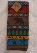 Bear Moose Jacquard Tea Towel Lake Lodge Pattern Kay Dee Cotton