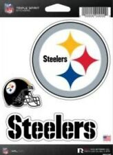 Pittsburgh Steelers Triple Spirit 3 Decals Auto Tumbler Laptop Cut to Shape