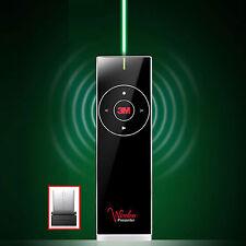 3M WP-7600G Wireless PowerPoint PPT Presenter Remote Control Green-Laser Pointer