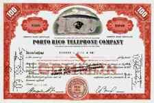 Porto Rico Telephone Company New York Puerto Rico ITT 1960 DECO 100 shares