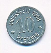 1918 Germany German WWI City Ratibor 10 Pfennig KRIEGSGELD War Help Money UNC