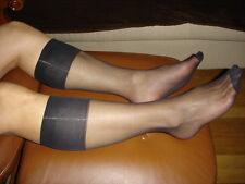 Lot 5 Paires mi bas men's socks sheer noir Ref US02 T-39/46 gay int