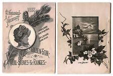 1883 HOUSEHOLD NECESSITY Golden Star Oil Stoves Ranges Catalog Myers & Osborn Co