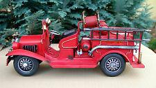 Feuerwehrwagen Löschfarzeug Feuerwehrfahrzeug Oldtimer Blechmodell Modell Auto