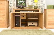 Conran solid oak modern furniture hidden home office hideaway computer PC desk