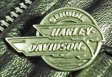 Round Genuine Harley Davidson Harley Davidson Motorcycle Pewter Biker pin 1047
