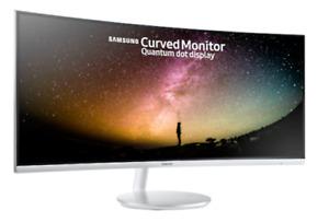 "SAMSUNG C34J791 34"" QUAD HD CURVED LED MONITOR 1440P 3440 x 1440p 4MS HDMI"