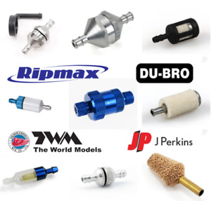 Fuel Filter Range for RC Model Aircraft & Cars etc. In-Line, Felt Clunk & Large