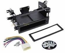 Aftermarket Single Din CD Player Radio Installation Dash Kit & Wire Harness Plug