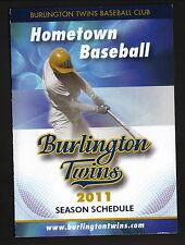 Burlington Twins--2011 Pocket Schedule--IBL