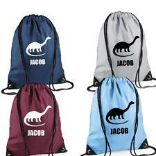 Diseño de dinosaurio Personalizado bolso de lazo Gimnasio Escolar Morral Deportivo E.F. Kit