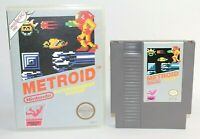 Metroid NES Nintendo Authentic, Cleaned, & Tested! Comes w/ NICE Case Very Good!