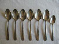 """Lot of 6 Stainless Oneida Ltd OCEANIC Soup Table Spoon Flatware 7.25"""" 1 Teaspoon"""