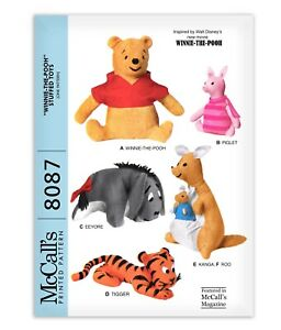 Winnie POOH Bear Stuffed Animal Pattern McCalls Tiger Piglet Kangaroo Tigger Toy