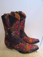 NIB OLD GRINGO Violet Leather Multi Embroidered Jasmine Western BOOTS 7.5 B Mex