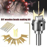 Wooden Bead Maker Beads Drill Bit Milling Cutter Woodworking Tool Kit